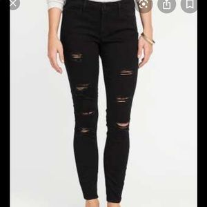 Old Navy Rockstar Distressed Skinny Jeans